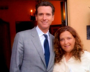 Deb Blaine with Gavin Newsom @ LA Fundraiser